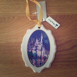 NWT Disney Parks Ceramic two-sided Ornament.
